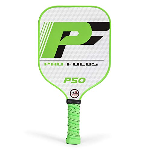 Pro Focus Pickleball Paddle - P50 Composite Pickleball Paddle - Features a Fiberglass Paddle Surface with Cushioned Grip (Point Pickle)