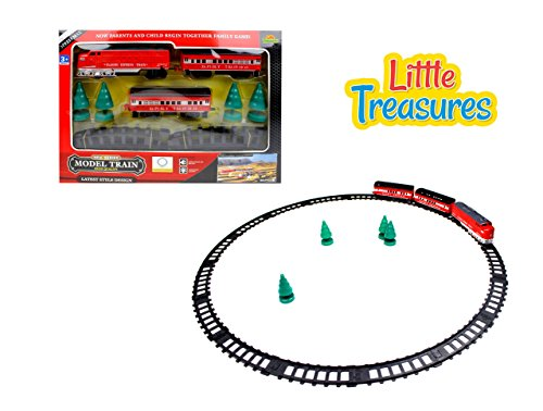 Little Treasures Modern Electric Train Complete with Passenger Carriages and Model Trees Watch Your Little Conductor Have A Blast While Playing with This Fun Train Toy Set (Train Carriage)