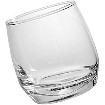 Sagaform Rocking Whiskey Tumbler Glasses, 6 3/4-Ounces, Set of 6
