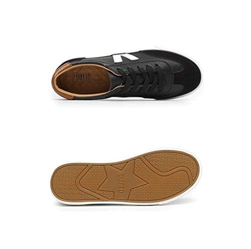 Schuhe Farbe Breathable Skateboard Weiß Schuhe Schuhe und niedrige Frauen Lässige 38 Mode bequeme Sport größe Spitze Schwarz Einfache flache Schuhe Leder n4BqW0S