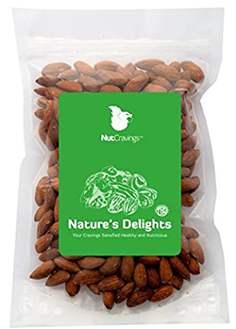 Nut Cravings Whole Almonds – 100% All Natural Shelled, Roasted & Salted Nuts – 8OZ - Toasted Almond Light
