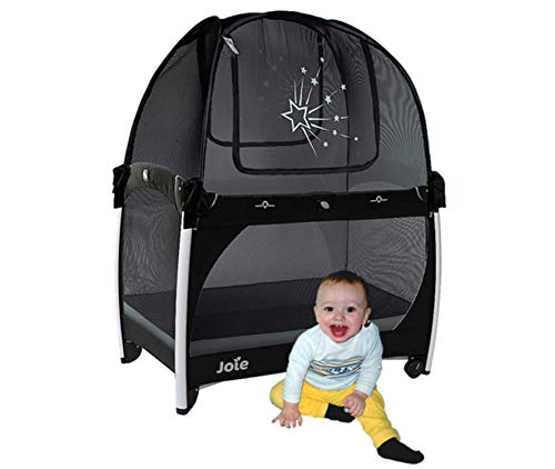 Aussie Cot Net Crib Tent Fits a Pack n Play and Mini Cribs – Portable Travel Tent to Keep Baby from Climbing Out – Black…