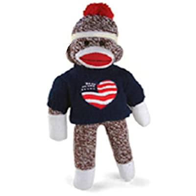 """I love USA"" Sock Monkey (11"") - All Proceeds to Autism Charities"