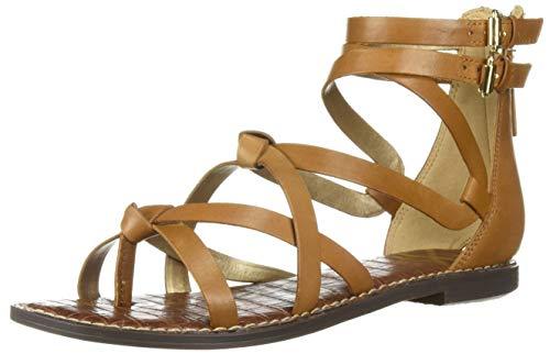 Sam Edelman Women's Gaton Sandal Saddle Leather 8 M - Strap Gladiator Flat Sandals