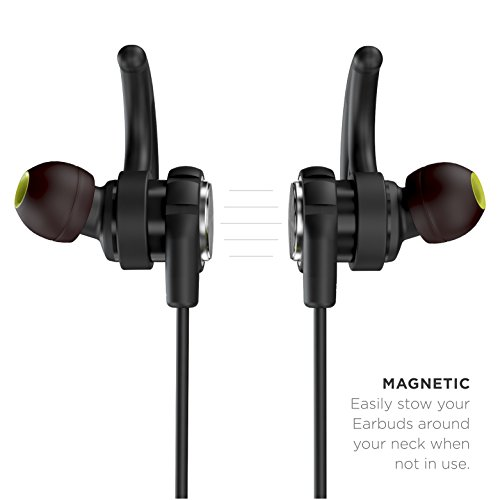 Phaiser BHS-750 Bluetooth Headphones Runner Headset Sport Earphones with Mic and Lifetime Sweatproof Guarantee - Wireless Earbuds for Running, Blackout by Phaiser (Image #2)
