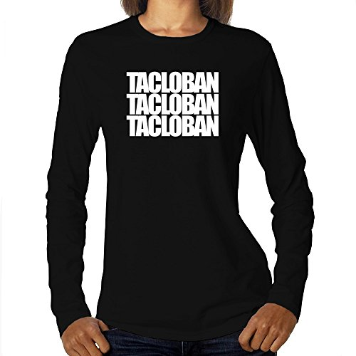 Eddany Tacloban Three Words Maglietta a Maniche Lunghe da Donna