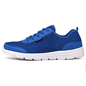 Mesh Lightweight breathable Quick-Dry Water Running Sports Slip-on Swim Walking Yoga Lake Beach Garden Park Driving Boating Shoes Casual couples for Men Women Kids sneakers BADIER Blue 42