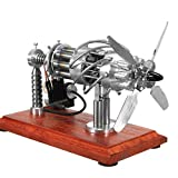 PeleusTech® 16 Cylinders Stirling Engine 16 Cylinder Hot Air Stirling Engine Model Scientific Physics Toy Education Stem Toy