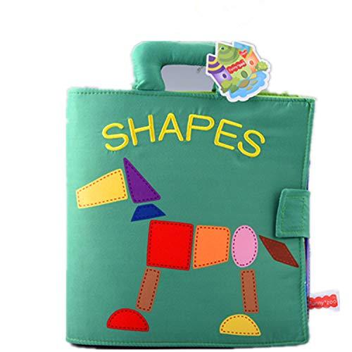 Montessori Toys、タングラム パズルの布製ブック、教育玩具、子供の認識スキルを向上。   B07J2KPPW3