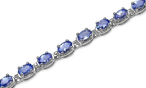 "925 Sterling Silver Odyssey Blue Tanzanite Tennis Bracelet Gift Size 7.25/"" Ct 30"