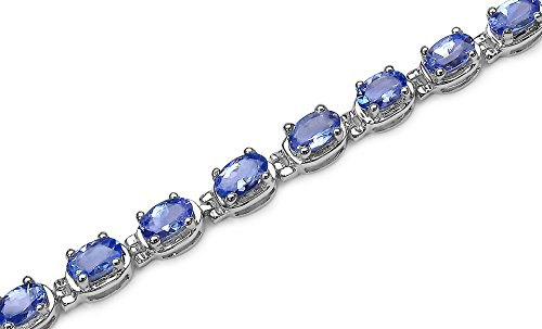 Tanzanite Tennis Bracelet Crafted in Sterling Silver( 7 1/4 inch) by Amanda Rose Collection (Image #2)