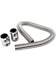 """36'' Universal Flexible Stainless Steel Radiator Coolant Water Hose Kit with Caps, Used with 1-1/4"""", 1-1/2"""",1-5/8"""" Radiator Necks"""