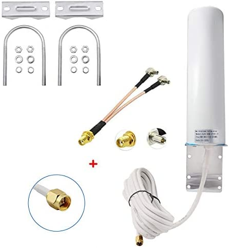 High Gain 10-12dBi Cellular Antenna 4G LTE Bracket Mount Signal Booster Antenna for Hotspot Router