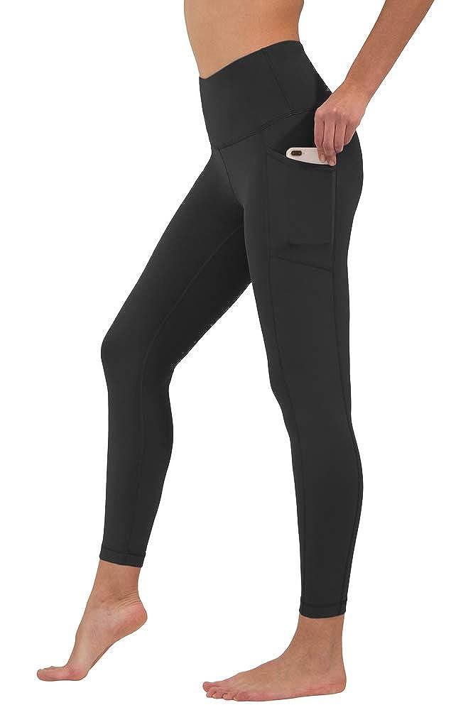 Black 90 Degree by Reflex High Waist Tummy Control Interlink Squat Proof Ankle Length Leggings