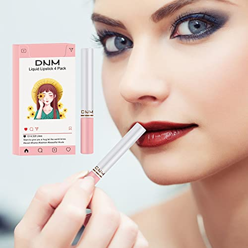 4 PCS Matte Lipstick,4-color Lip Stick, Durable Waterproof Non Stick Cup, Women\'s Make-up Velvet Make-up Lip Gloss (Kits-4)