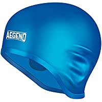 Aegend Solid Silicone Swim Cap, Comfortable Fit Swim Caps...