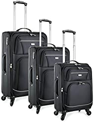 TravelCross Springfield Premium Luggage 3 Piece Lightweight Spinner Set