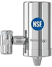 Waterdrop WD-FC-06 NSF Gecertificeerde Roestvrijstalen Kraanwaterfilter, Koolstofblokwaterfiltratiesysteem, Leidingwaterfilter, Verwijdert Chloor, Zware Metalen en Slechte Smaak (1 Filter Inbegrepen)