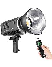 Neewer SLB60W LED Videoleuchte 5600K Version 60W CRI 93+ TLCI 95+ mit Fernbedienung und Reflektor Dauerbeleuchtung Bowens Montage mit 8700mAH Lithiumbatterie für Videoaufnahmen