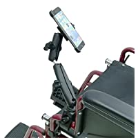 Wheelchair Rail and Tube Mount with Extension and Dedicated iPhone 6 Plus 5.5 Cradle ( sku 21259)