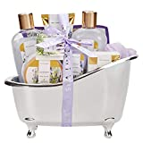 Spa Luxetique Spa Gift Basket Lavender Fragrance, Luxurious 8pc Gift Baskets for Women