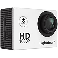 Lightdow LD4000 1080P HD Sports Action Camera Bundle with DSP:NT96650 Chip, 1.5-Inch LPS-TFT LCD, 170° Wide Angle Lens and Bonus Battery (White)