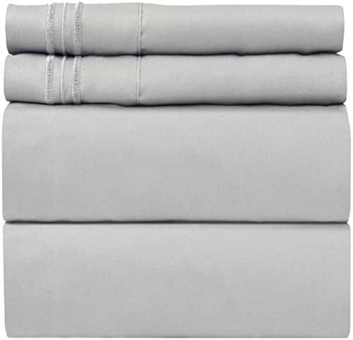 California King Size Sheet Set – 4 Piece Set - Hotel Luxury Bed - Extra Soft - Deep Pockets - Breathable & Cooling - Wrinkle Free - Cali King Sheets 4 PC - Cal King Bed Sheets California King Mattress
