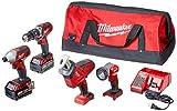 Milwaukee 2695-24 M18 18V Cordless Power Tool Combo