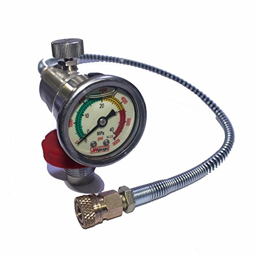 Outdoor Guy PCP Paintball Scuba Diving Valve CO2 Filling Station Valve 40mm Gauge for CF Cylinder Air Inflation to Small HPA Tank Refill Adapter