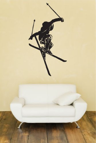 Freestyle skiing huge wall decal