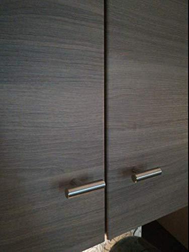 20 unidades goldenwarm cepillado cocina de acero inoxidable Armario Hardware Euro estilo tirador para puerta T Bar cajón tire de botones de 12 mm de ...