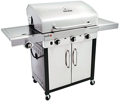 Char-broil 463371716 Patio Gas Grill With Side Burner, Stainless