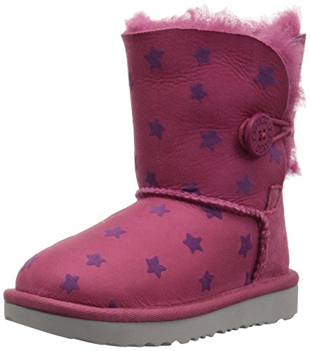 UGG Girls T Bailey Button II Stars Pull-on Boot, Brambleberry, 11 M US Little Kid by UGG