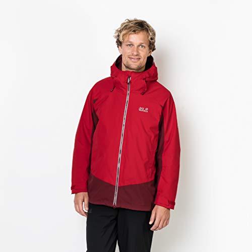 Jack Wolfskin Men's Exolight Base Jacket, Ruby Red, Large (Men Wolfskin Jack Ski Jacket)