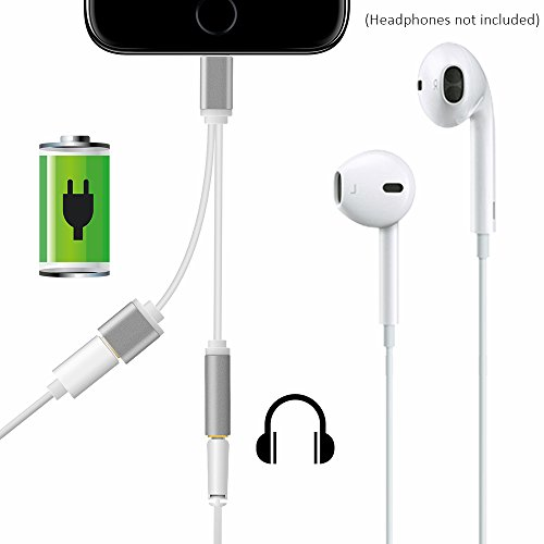 Longko 2-in-1 Lightning Adapter Charger and 3.5mm Earphone J