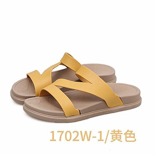 XIAOGEGE coreana Giallo versione nuovi da spesso estate fondo spiaggia pantofole lady esterni pantofole Moda scarpe trascinando antiscivolo r7qx1Ura