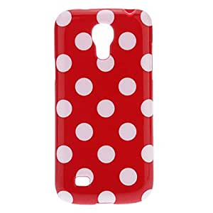 WEV Lovely Polka Dot TPU Skin Case Cover for SamSung Galaxy S4 Mini I9190 , Black