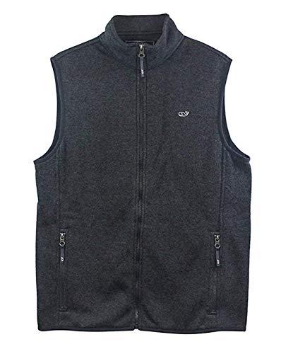 Vineyard Vines Men's Graphite SweaterFle Vest (Large) from Vineyard Vines
