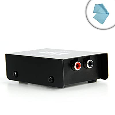 AudioAMP Turntable Phono Preamp with 12 Volt AC Adapter - Works with Audio Technica AT-LP60 / AT-LP120 , Denon DP-300F / DP-29F , Pioneer PL-990 , Sony PS-LX300 , and Many More Audio Turntables! *Includes Bonus Microfiber Cleaning Cloth from Accessory Gen