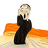 Paper Love The Scream (by Edvard Munch) Halloween Pop Up Card, 3D Popup Greeting Cards, For Halloween, Day of The Dead, Trick or Treat, Birthday, All Occasion   Famous Art Collection