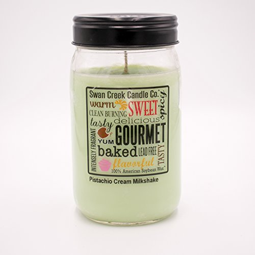 Pistachio Cream Milkshake 24 oz. Swan Creek Kitchen Pantry Jar Candle