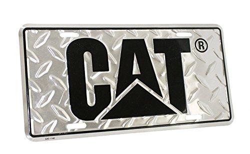 MPC Caterpillar CAT Equipment Aluminum Diamond Plate Novelty License - Auto Plate License Vanity