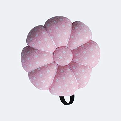 Tivollyff かわいい漫画カボチャ針縫製ピンクッション弾性ボタンリストストラップホルダー用ホームテーラー安全クラフトツール