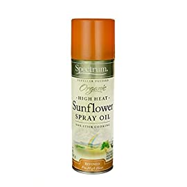 Organic Sunflower Oil Spray 5 fl Ounce Liquid 5 High Heat Sunflower Spray Oil For non-stick cooking Expeller pressed