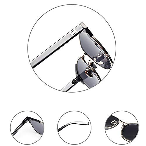 Aire de Completo Lente Conducción Protección Ojos C2 de Gafas Exquisito UV Libre metálico de Sol Peggy Gato Marco Gu al Color Viajar OIqwYU