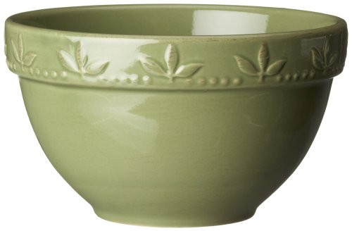 Real Collections Finish - Signature Housewares Sorrento Collection 30-Ounce Utility Bowl, Green Antiqued Finish