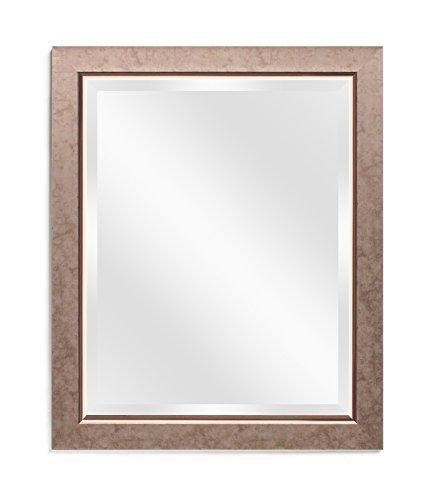 Wall Beveled Mirror Framed - Bedroom or Bathroom Rectangular Frame Hangs Horizontal - Frame Mirrors Your Bathroom Molding
