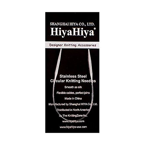 HiyaHiya Circular 9 inch (23cm) Steel Knitting Needle Size US 2 (2.75mm) HISTCIR9-2 (Sock Knitting Needles Circular)