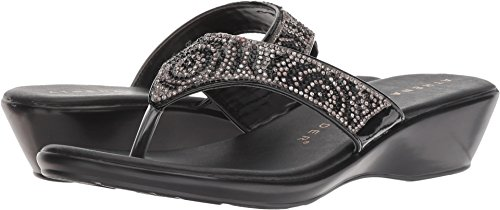 Athena Alexander Women's Shady Wedge Sandal, Black, 7 M US