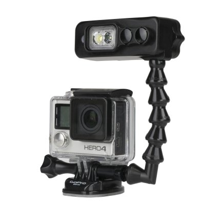 Light and Motion Sidekick Black Duo light for GoPro W/ Dive Arm by Light and Motion